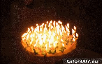 Birthday, Candles, Smoke, Blow out, Gif, Gifs
