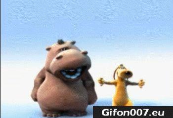 Cartoon, Film, Music, Gifs, Hippo, Dog