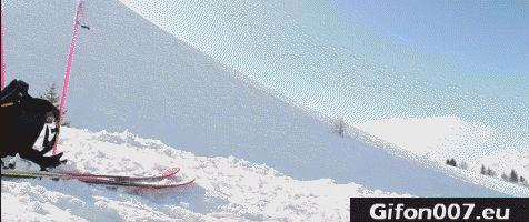 Skiing, Mountains, Gif, Gifs, Fail, Jump, Back Flip
