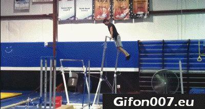 gymnastics fail gif, video, gym