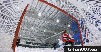 ice hockey, hockey goalie, hockey puck