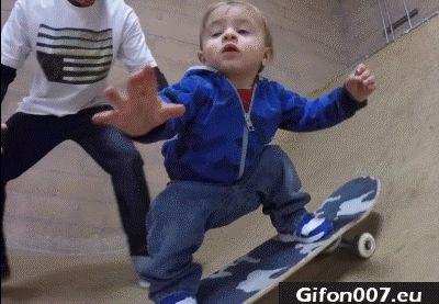 Child, Skateboarding, Gif, Video