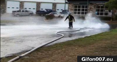 Fireman, Fail, Gif, Water, Hose, Gifs