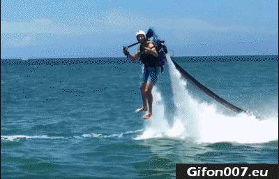 Flyboarding, Fail, Gif, Water
