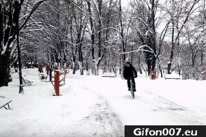 Fail on Bike, Winter Fails, Gif, Video