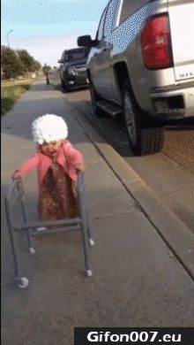 Funny Child, Grandma, Video, Gif