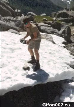 Ice, Stone, Fail, Fall, Video, Gif