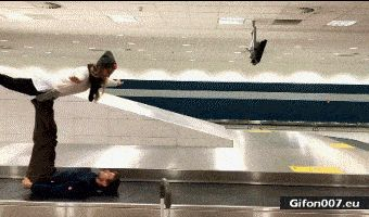 Airport, Art, People, Video, Gif