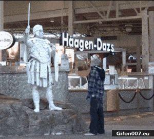 Funny Gifs Videos, Freak Out, Boy, Sculpture