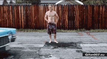 Funny Video, Mobile Swimming Pool, Car, Gif