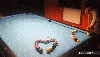 Playing Billiards, Super, Incredibly, Video, Gif