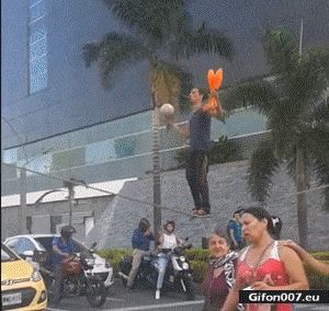 Super Video, Juggling, Road, Traffic Lights, Gif