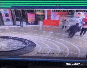 Funny Fail, Department Store, Fountain, Gif