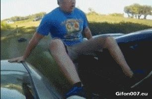 Funny Fail Video, Cars, Sign, Gif