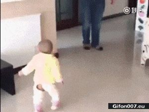 Funny Video, Baby Imitating his Father, Gif