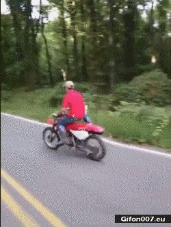 Funny Video, Damaged Motorcycle, Gif