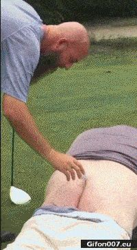 Funny Video, Golf, Butt, Ball, Fail, Gif