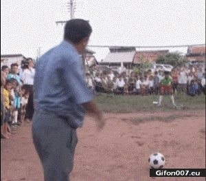 Funny Video, Playing Football, Fail, Ball, Gif