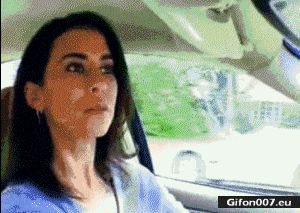 Funny Video, Police, Baby, Woman, Car, Gif