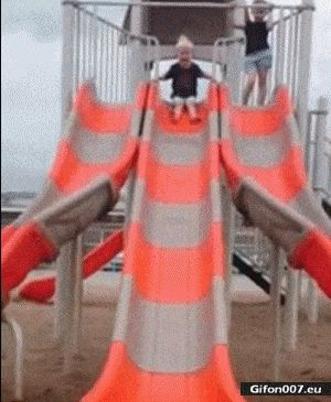 Funny Video, Slide for Kids, Fail, Gif