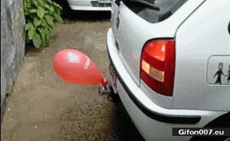 Video, Car, Balloon, Parking, Gif