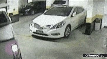 Furious Driver, Parking Car, Fail, Man, Video, Gif