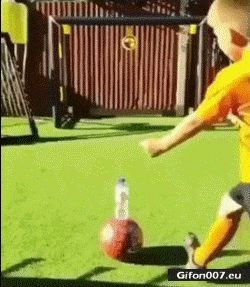 Bottle Flip, Football, Boy, Video, Gif