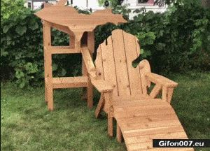 Funny Video, Perfect Chair for Lover of Beer, Gif