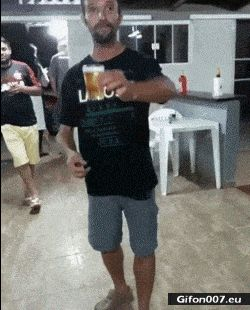 Video, Backflip, Beer, Gif