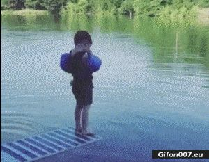 Funny Video, Boy, Fail, Water, Gif