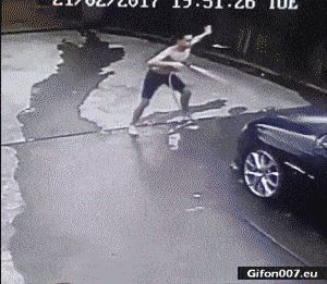 Funny Video, Man, Washing Car, Dancing, Gif