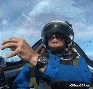 Funny Video, Pilot, Drink, Airplane, Gif