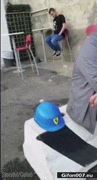 Funny Video, Sleeping Man, Fail, Fall, Gif